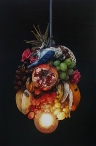 Cindy Wright - Festoon of fruits and fly - 190x126cm - small